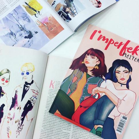 I had a chance to draw a Imperfekt magazine for girls.