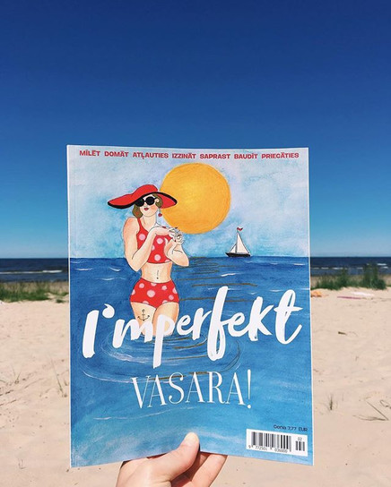 "Cover for ""Imperfekt"" magazine summer edition"