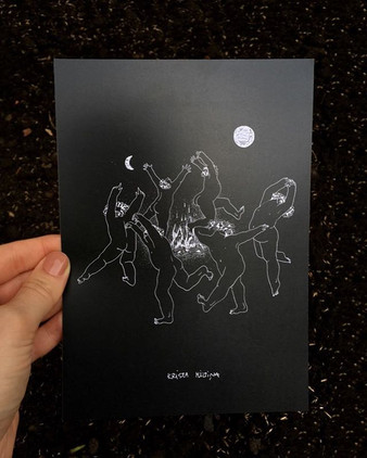 "Postcard ""Jāņi"" ""Solstice"""