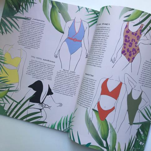 "Illustration for ""Imperfekt"" magazine."