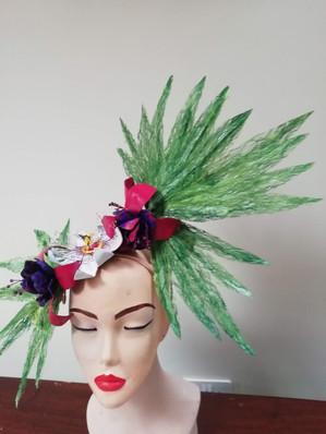 Fan Palm Heaven headpiece