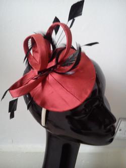 Redcurrant silk headpiece