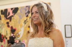Laura in Bridal  Birdcage Veil