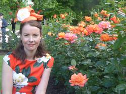 Orange mini beret