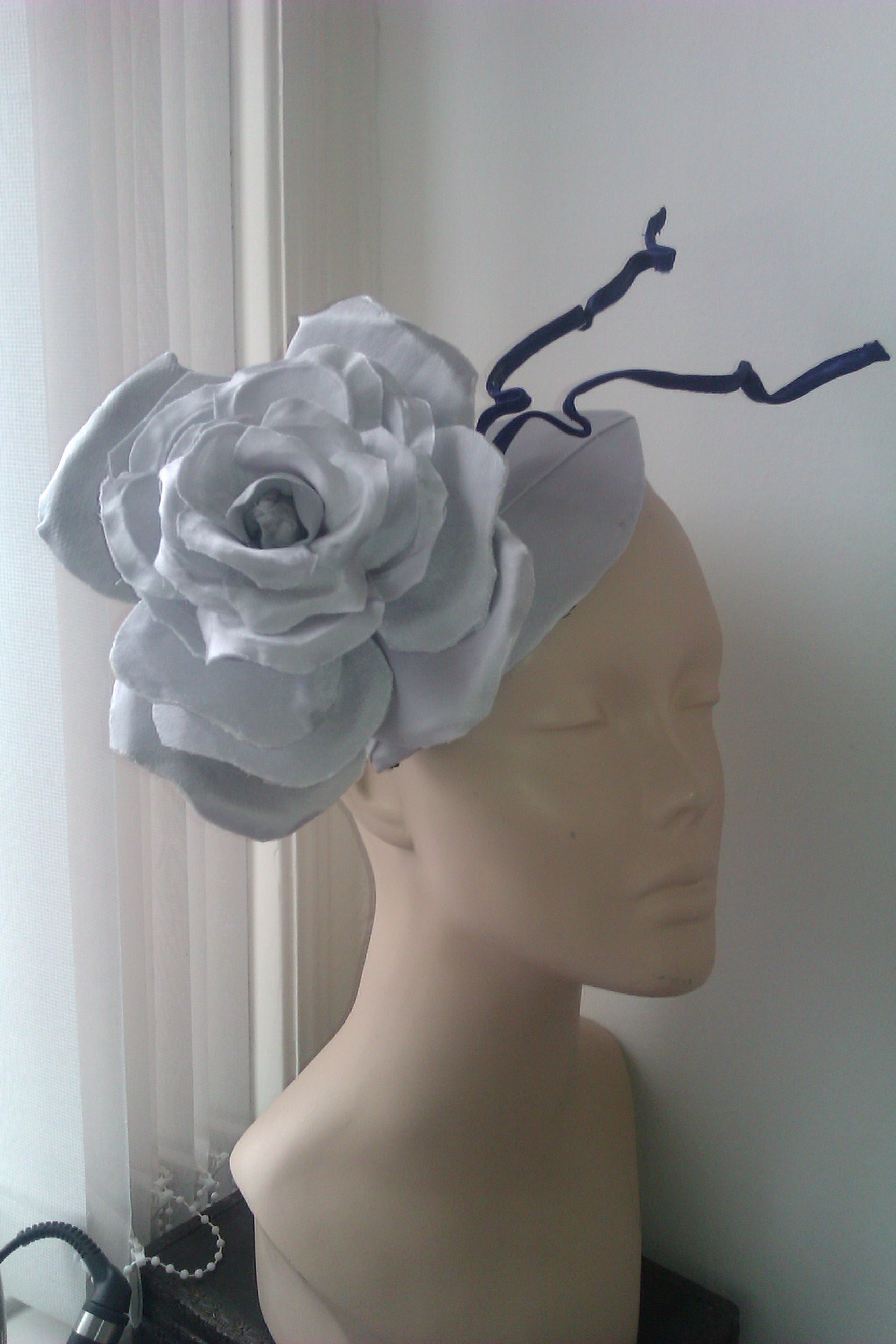 Silver rose headpiece