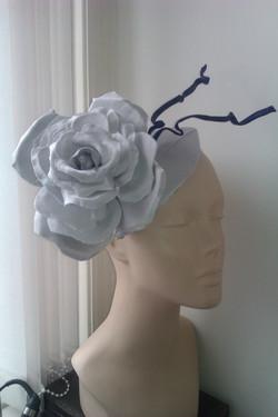 Silver rose headpiece