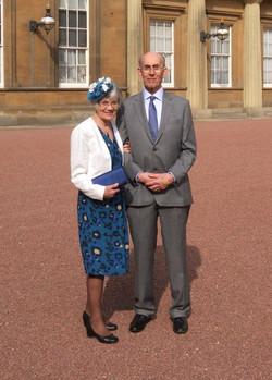 OBE ceremony at Buckingham Palace