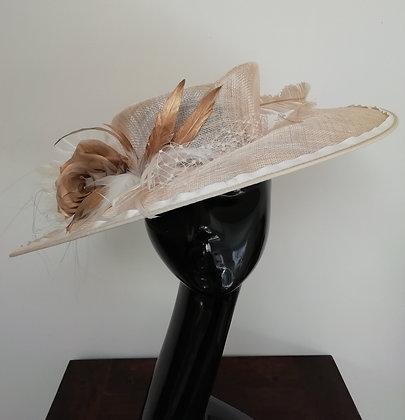 Large Carrie Rose Garden Wedding hat
