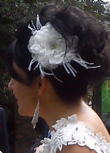 Wendy's silk bridal hair flower