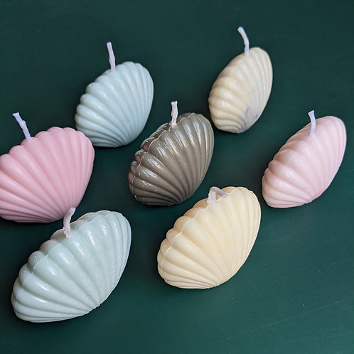 Decorative mini shell candle