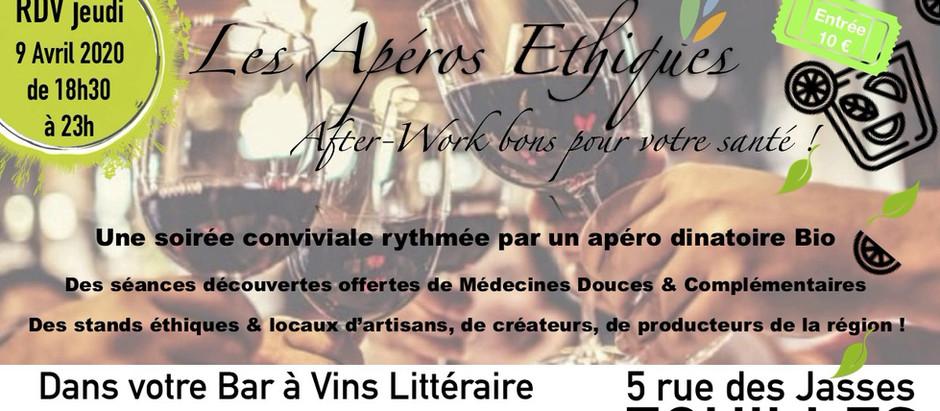 """Les apéros éthiques """"After-Work bons pour votre santé"""" ! RDV Jeudi 9 Avril 2020 de 18h30 à 23h"""