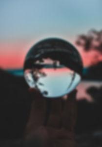 Glass Ball at  Sunset.jpg