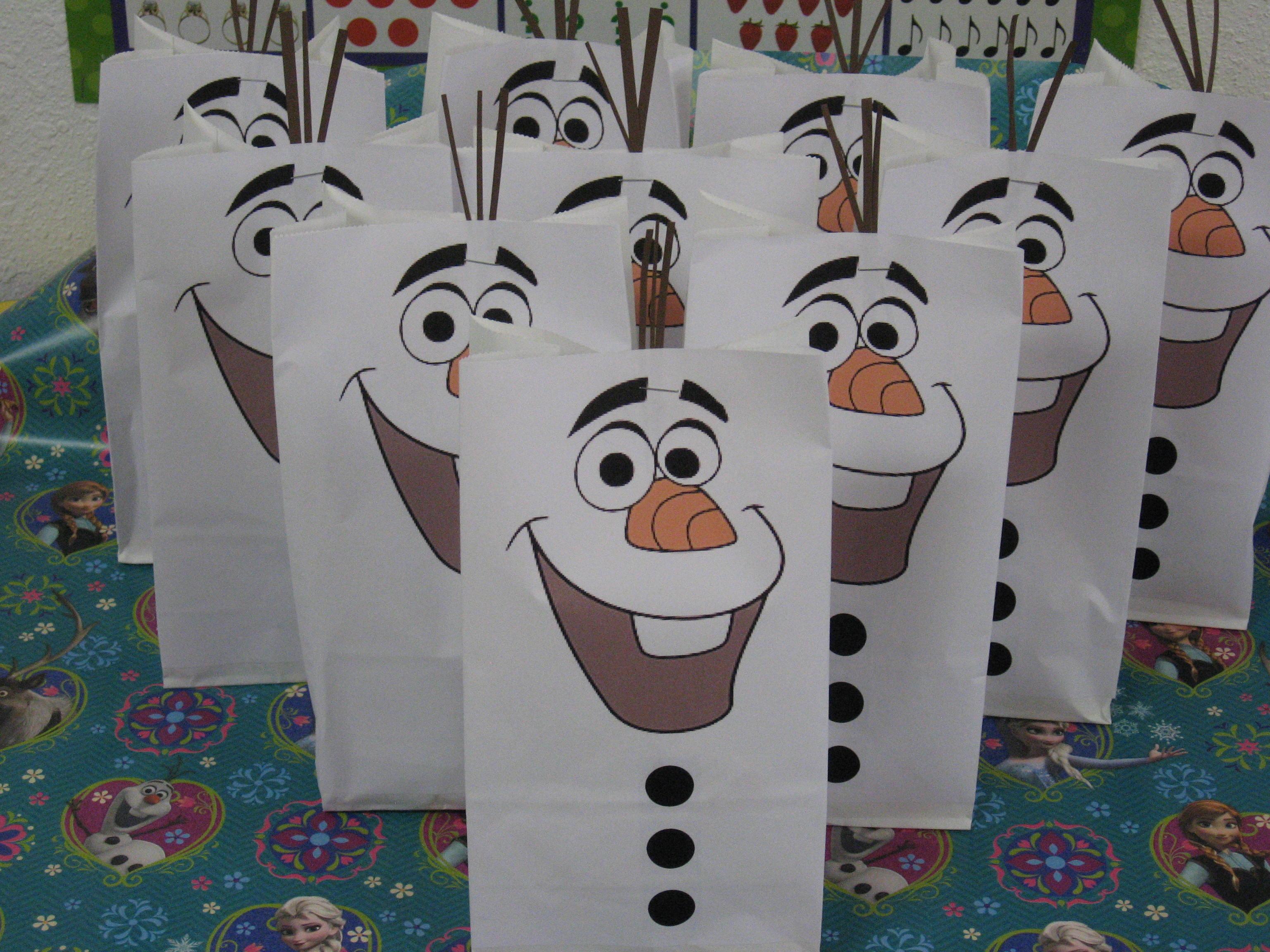 Olaf Goodie Bags