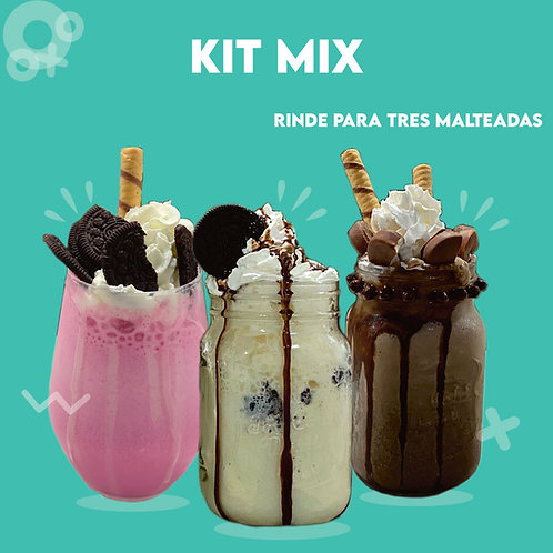 Kit de Malteadas Mix - 3 Sabores-