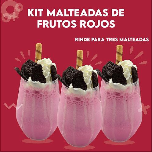 Kit de Malteadas de Frutos Rojos