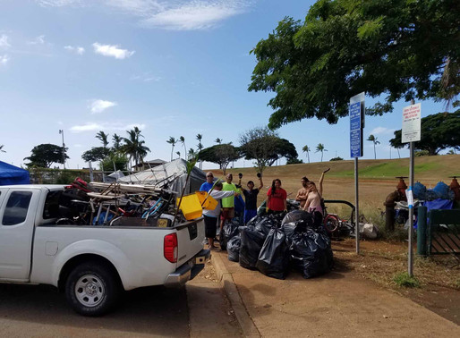 Kaka'ako Houseless Community Caring For Neighborhood and Parks