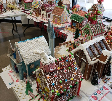 6th Annual Gingerbread Build Held At The Corners of Brookfield