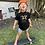 "Thumbnail: Kids ""Wild Child"" T-shirt/black and gold"