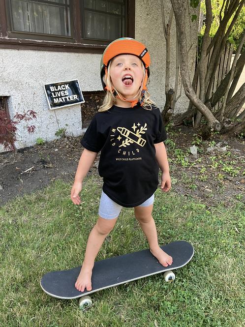 "Kids ""Wild Child"" T-shirt/black and gold"