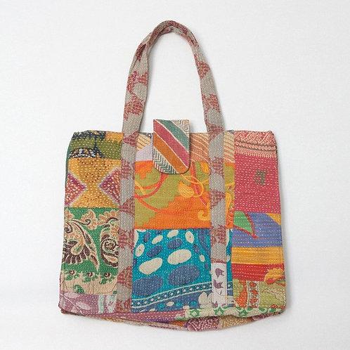 Grand sac en tissu vintage