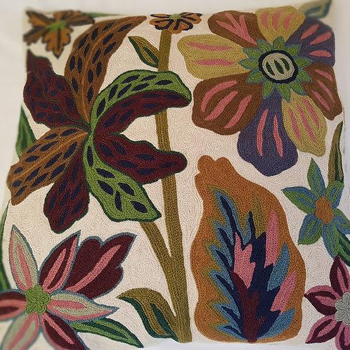 Housses de coussin brodées à la main – Fleur de lys  50×50 cm
