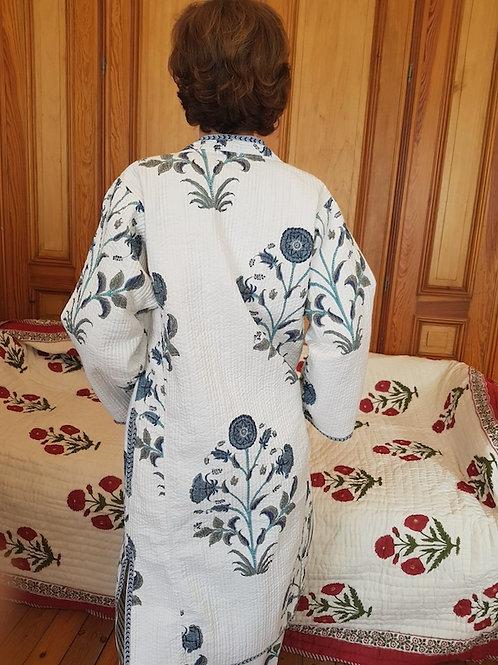 Robe de chambre blue poppy