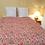 Thumbnail: Couvre lit kantha fleurs rose