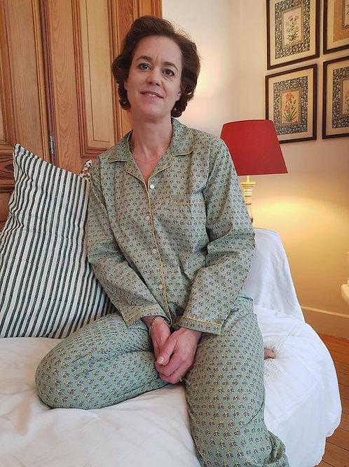 Pyjama unisex verte