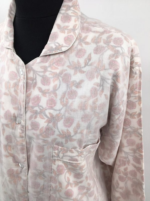 Pyjama fleurs roses