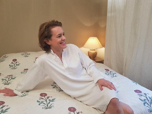 Chemise de nuit blanc