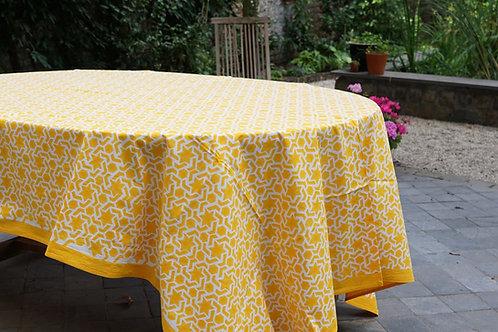 Nappe geometric jaune