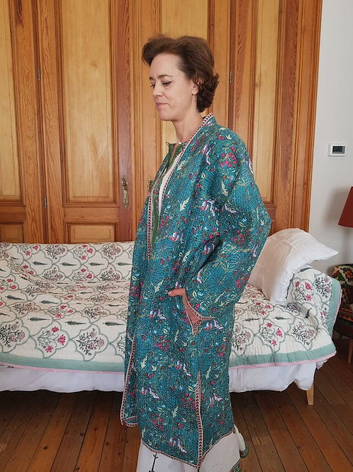 Robe de chambre turquoise