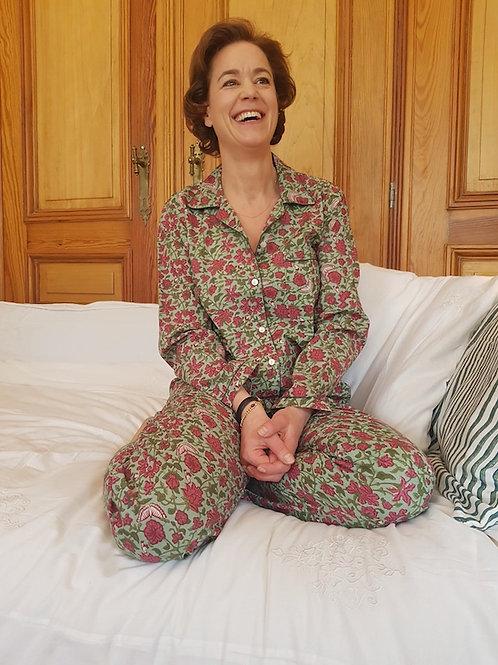 Pyjama unisex fleur papillons