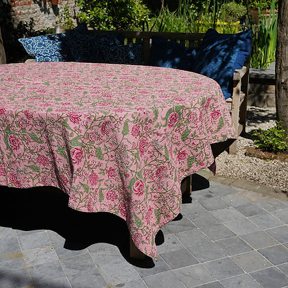 Nappe de table kantha rose