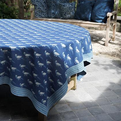 Nappe de table imprimée à la main – Perroquets