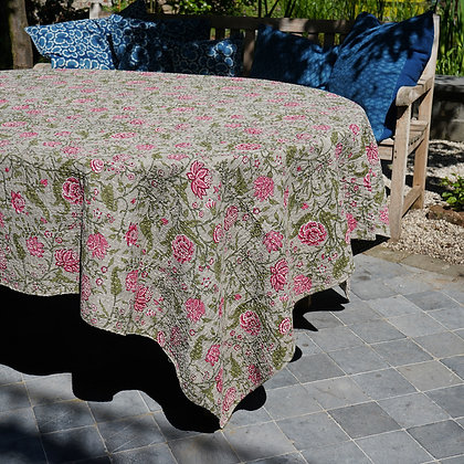 Nappe de table kantha grise