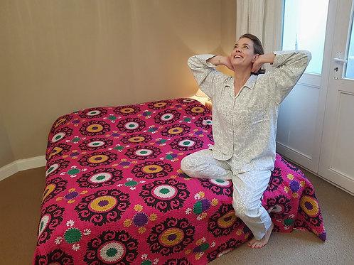 Pyjama fleurs bleues