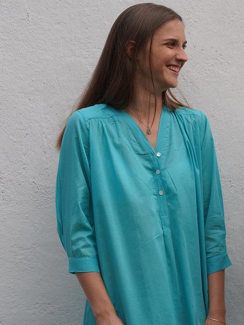 Chemise de nuit turquoise