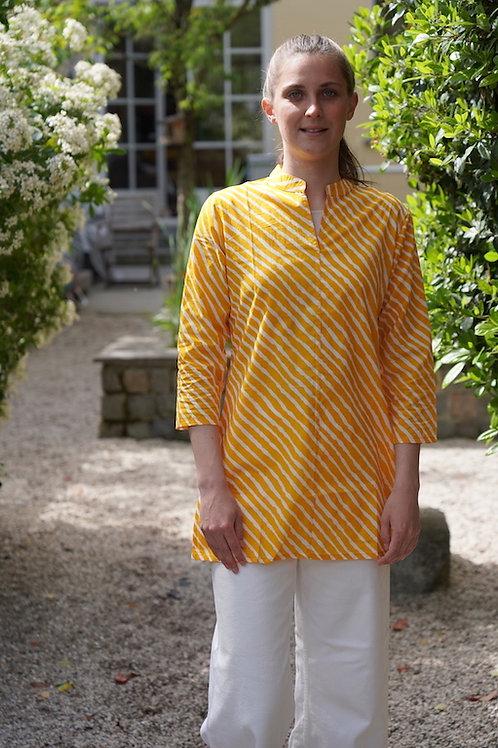 Tunique d'été lignes jaunes