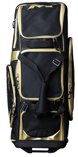 Miken Gold Series LE Pro Player Wheeled Roller Bag: MKBG18-WB-GLD
