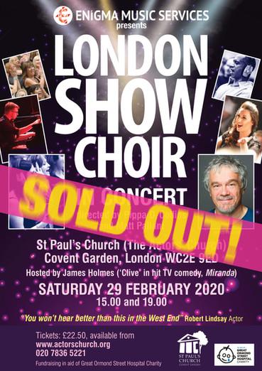 London Show Choir SOLD OUT Actors' Church London