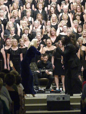 Kerry Ellis and Hugh Maynard with The Jupiter Singers