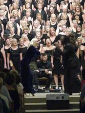 Kerry Ellis and Hugh Maynard with The Jupiter Singers