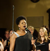 Brenda Edwards with London Show Choir