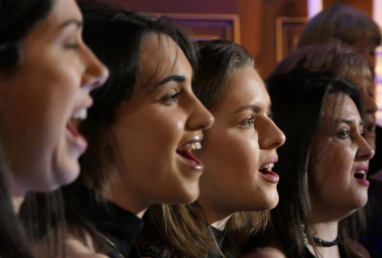 London Show Choir at The Actors' Church, London, February 2020