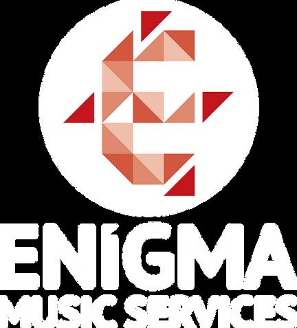 Enigma Music Services logo white
