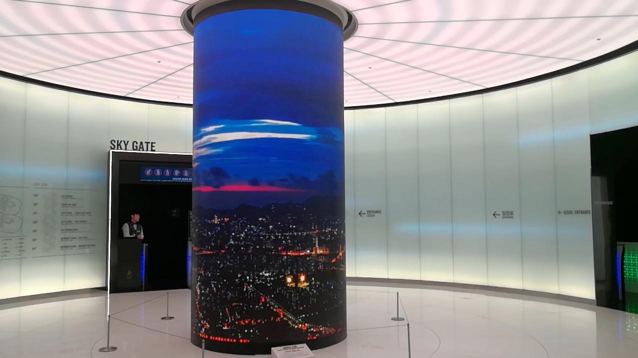 LED Creative -кръгла колона