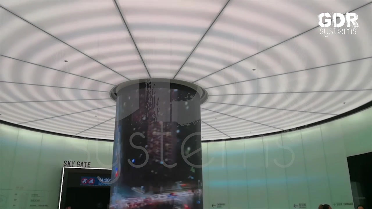 Column Transparent LED Display 2