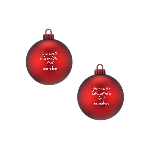 Pack of 2 Christmas Baubles