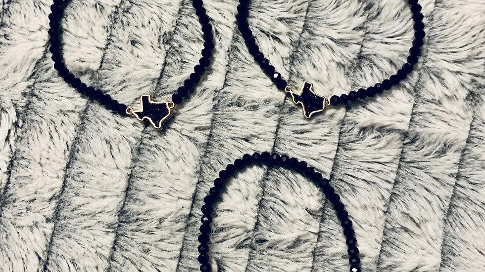 Texas Druzy Beaded Bracelet